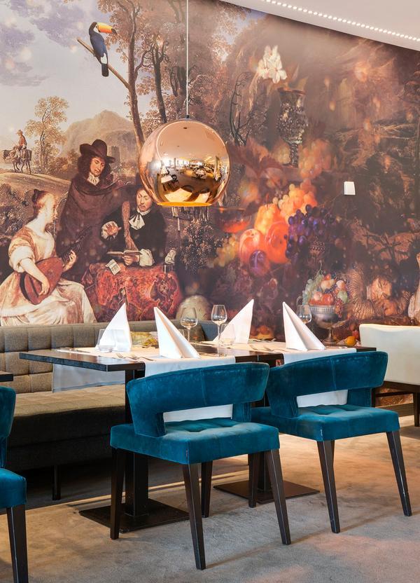 Verwonderend Imposante kunst op de muur bij de eettafel - Stijlvolwonen BF-59
